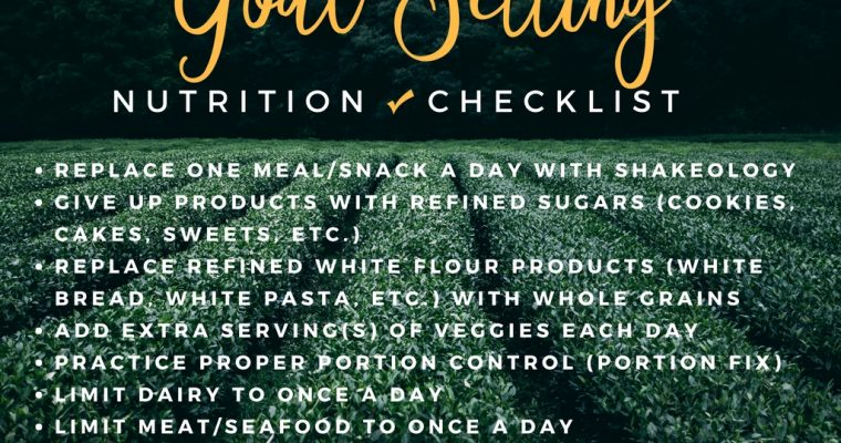 Setting Goals with Nutrition