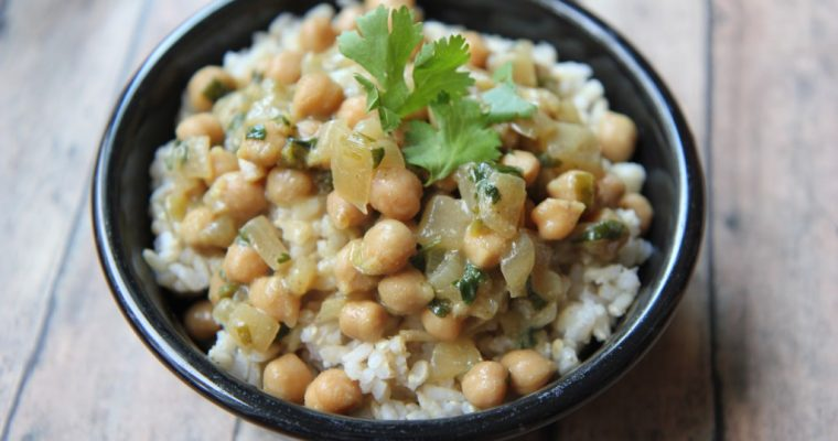 Chickpea Curry with Cashew Milk